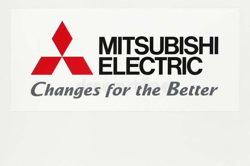 Download Mitsubishi Electric Logo On A Wall Editorial Image
