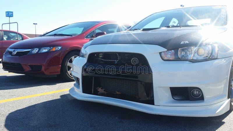 Mitsubishi evo stock image