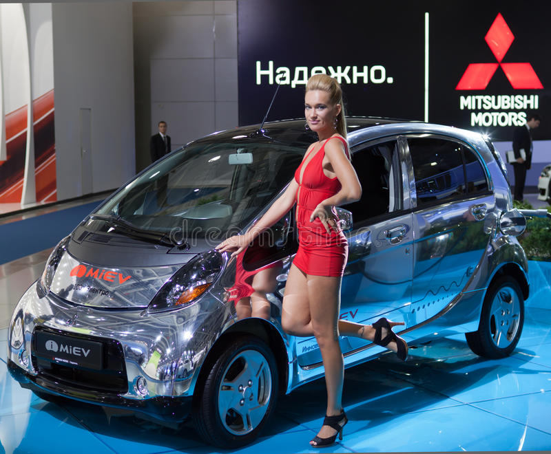 Download Mitsubishi i-MiEV editorial photography. Image of up - 26867037