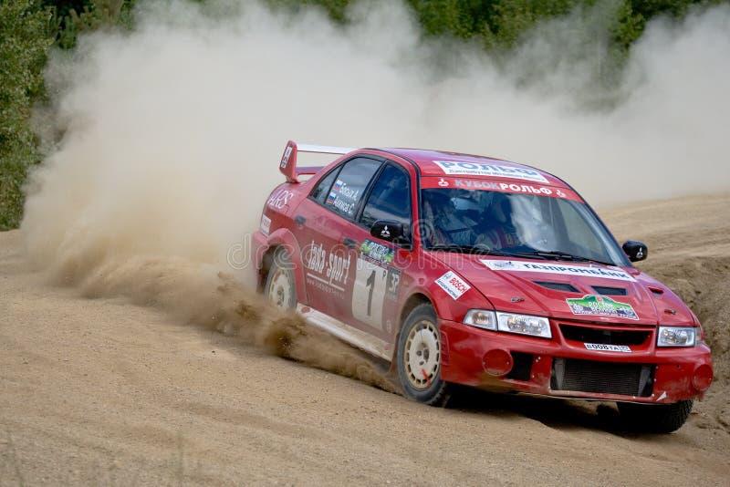 Mitsubishi Lancer In Rally Editorial Image