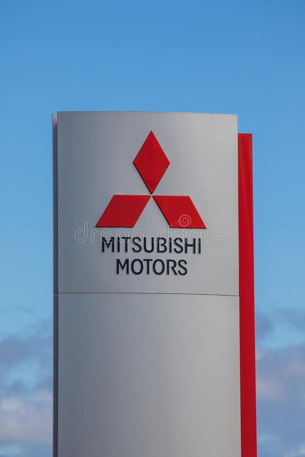 Mitsubishi Motors Brand Logo. This is the logo for the Japanese automobile manufacturer Mitsubishi Motors royalty free stock image