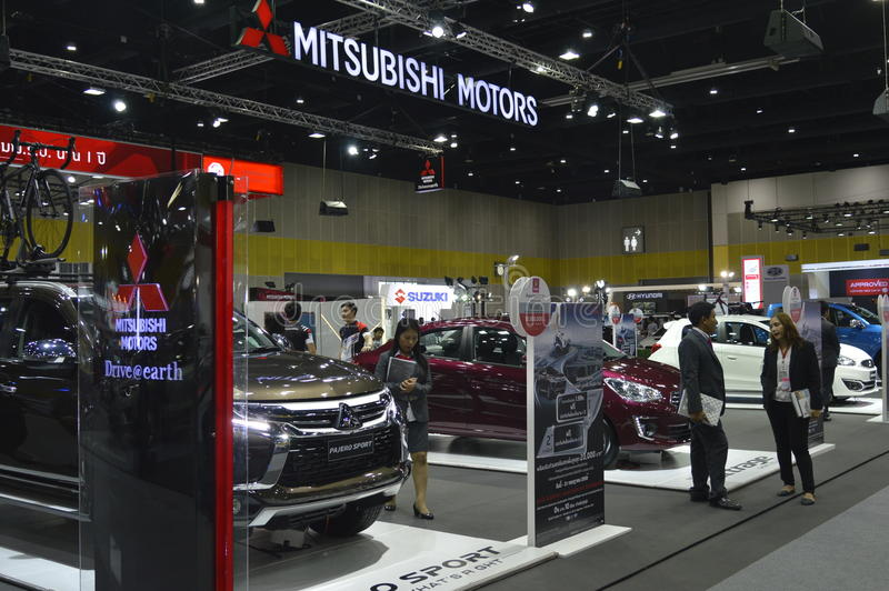Mitsubishi Motors shop of FAST Auto Show Thailand 2016. In Bangkok, Thailand stock images