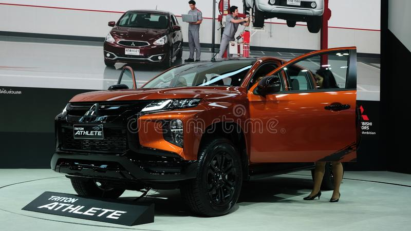 Mitsubishi Motors Thailand displays the Triton Athlete stock photos