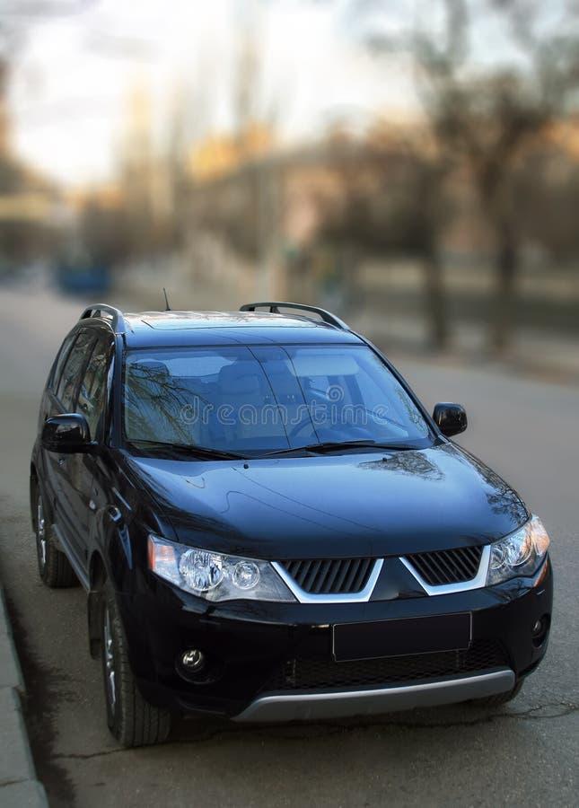 Mitsubishi noir image libre de droits
