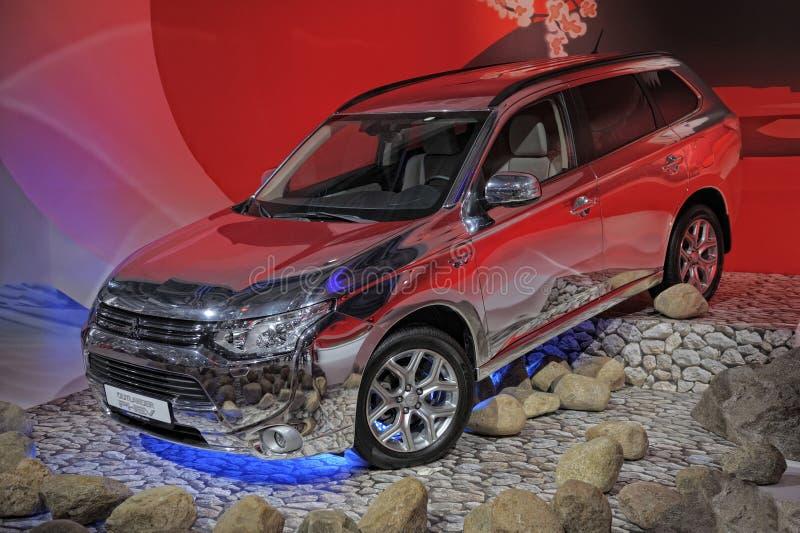 Mitsubishi Outlander PHEV stock images