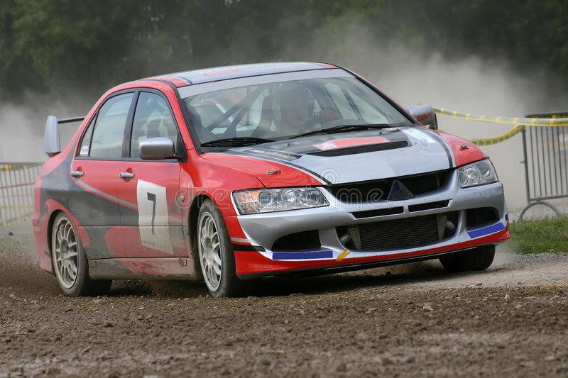Download Mitsubishi rally car stock image. Image of mitsubishi, endurance - 39841