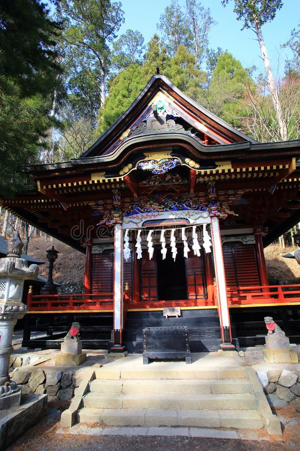 Mitsumine寺庙在埼玉,日本 免版税库存图片