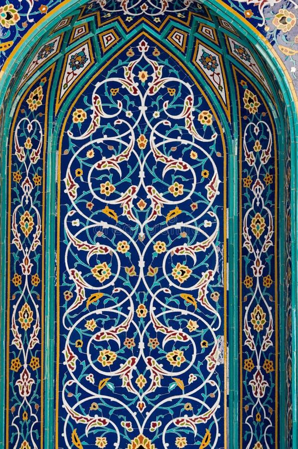 Mitt - östliga arkitekturmosaiktegelplattor royaltyfria foton