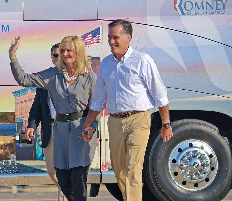Download Mitt and Ann Romney editorial stock photo. Image of classy - 26623423