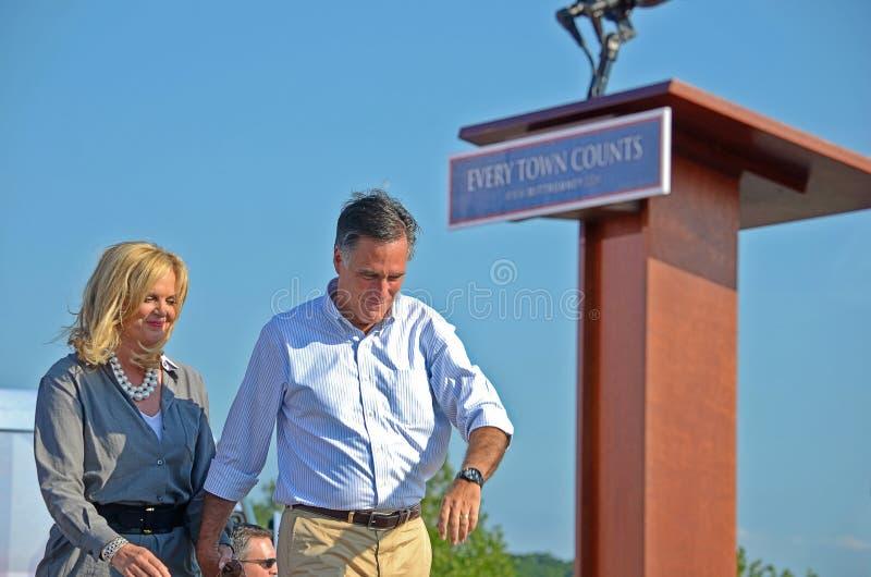 Mitt and Ann Romney royalty free stock photo