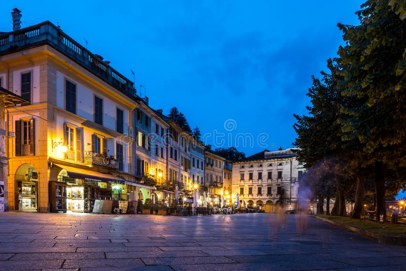 Mitt av Orta San Giulio, Italien royaltyfria bilder