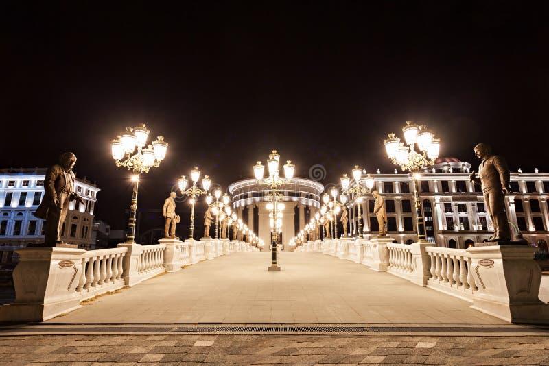Mitt av Skopje royaltyfri foto