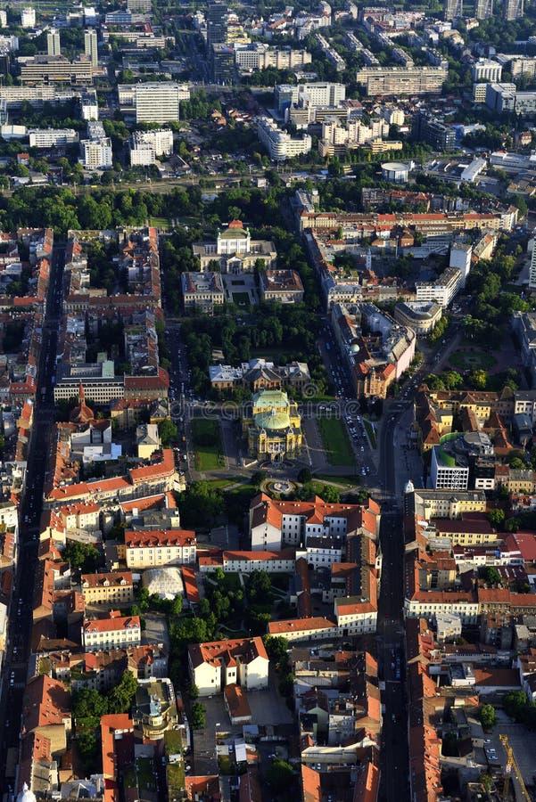 Mitt av Zagreb, Kroatien arkivfoton