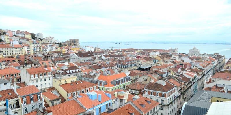 Mitt de lisbonne, Portugal för Vue du royaltyfri foto