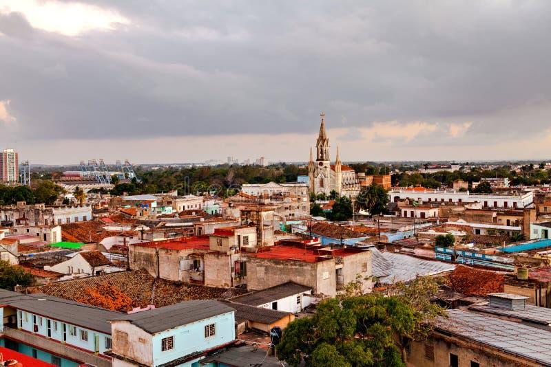 Mitt för arv för Camaguey UNESCOvärld från över royaltyfria bilder