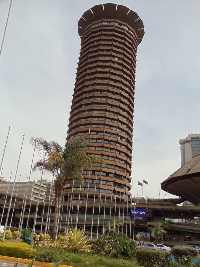 Mitt för internationell konferens för KICC Kenya royaltyfri foto
