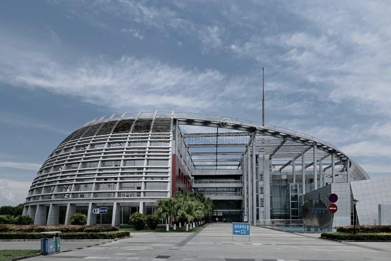 Mitt för Mianyang Kina-Mianyang nationell vetenskap och teknikinnovation royaltyfria foton
