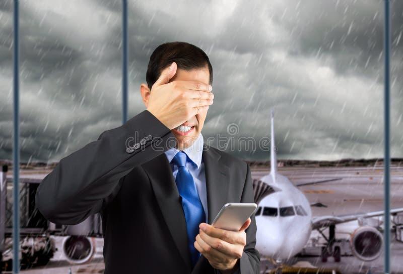Mitt flyg har avbrutits royaltyfria bilder