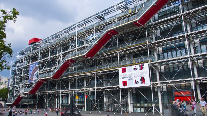 Mitt Georges Pompidou, Paris, Frankrike royaltyfria bilder