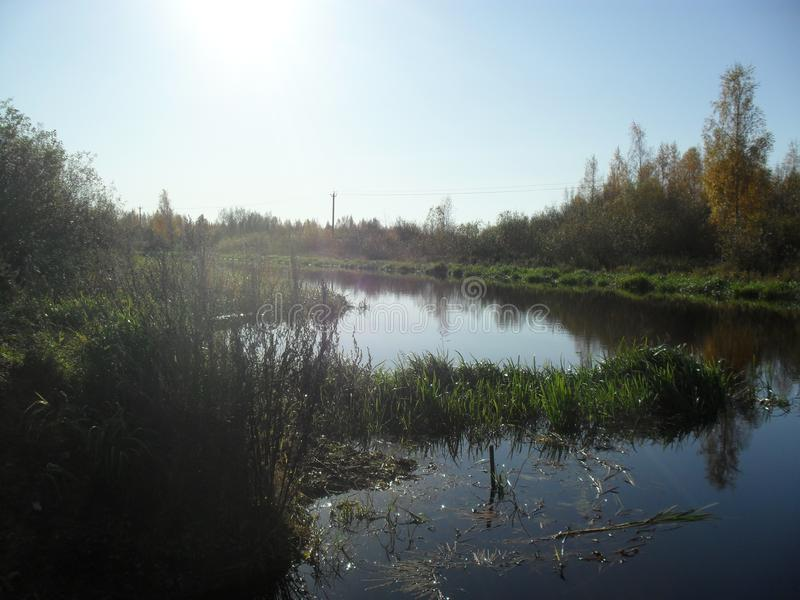 Mitt infödda land Den sceniska floden arkivfoto