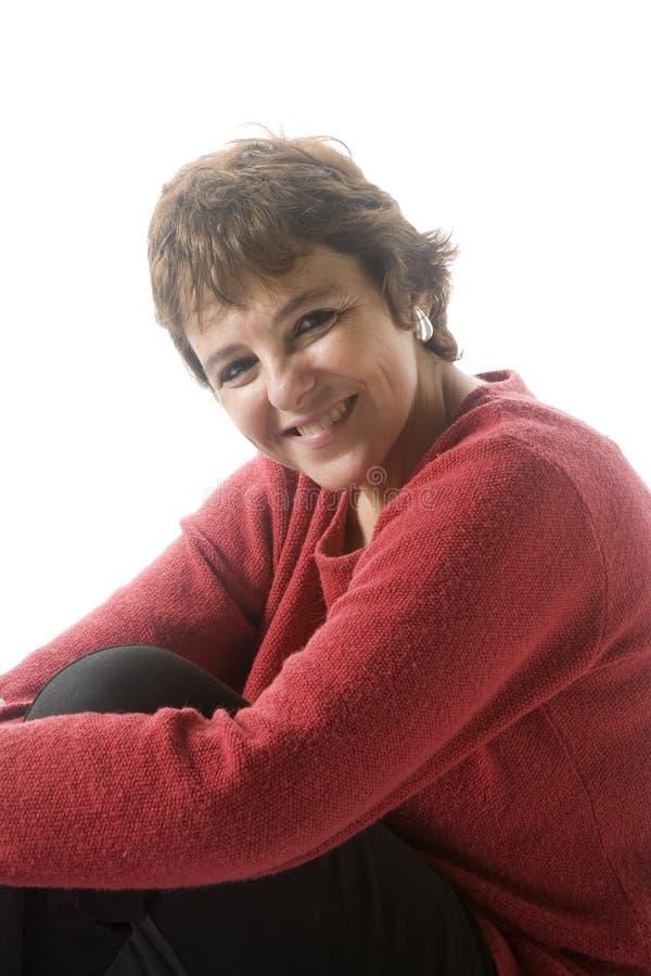 mitt- kvinna för 40-tal royaltyfri bild