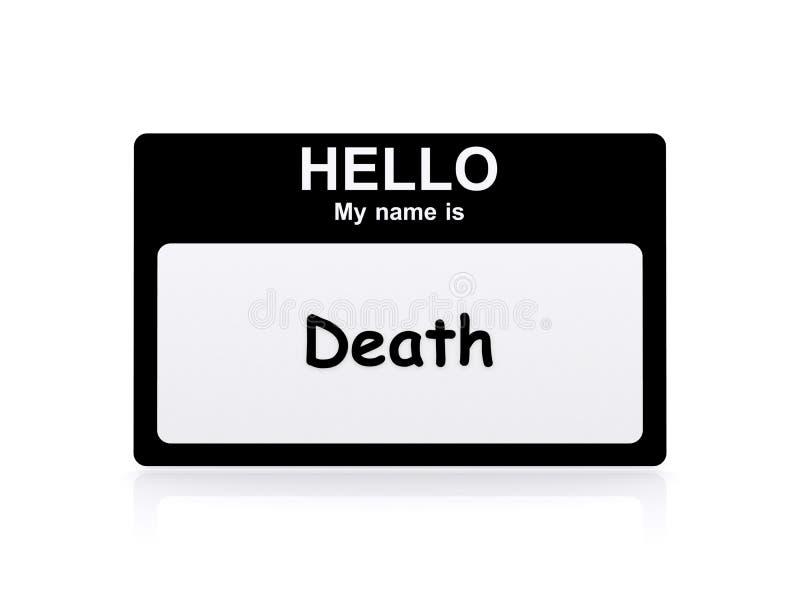 Mitt namn är död royaltyfri illustrationer