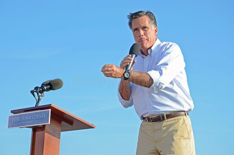 Mitt Romney campaigning stock photo