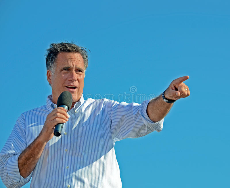 Mitt Romney campaigning royalty free stock image