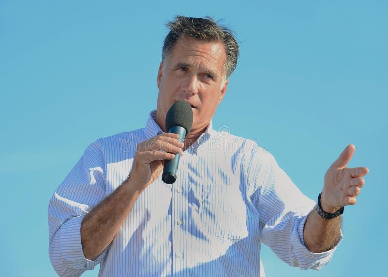 Mitt Romney campaigning stock image