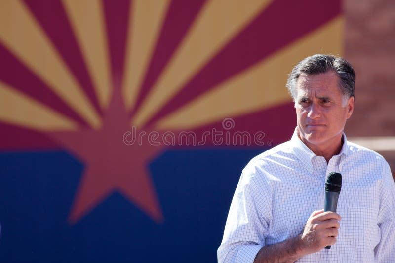 Mitt Romney Campaigns In Arizona Before Hispanics royalty free stock photo
