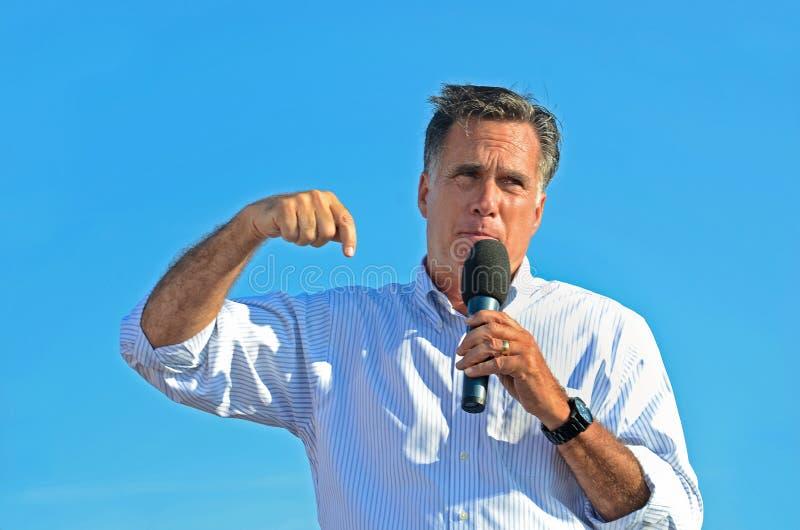 Mitt Romney giving a speech royalty free stock photos