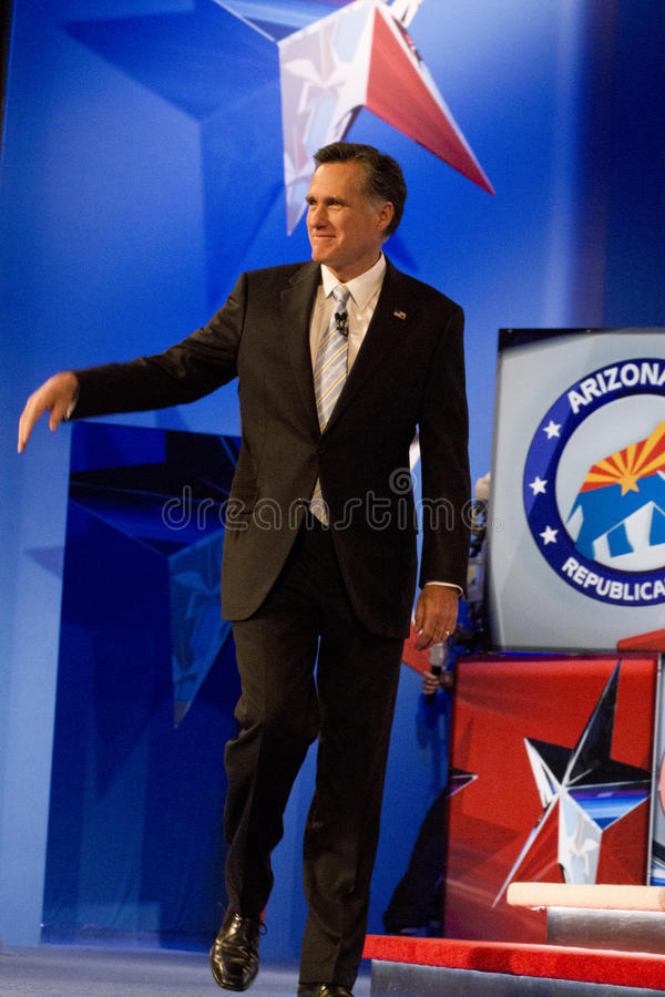 Mitt Romney at GOP Debate 2012 stock photo