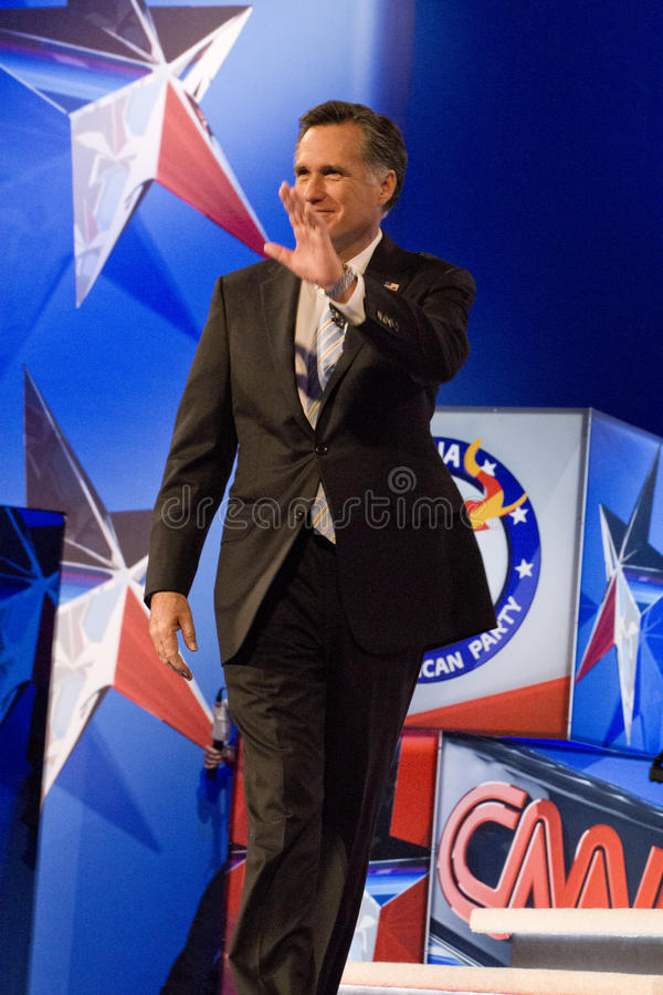 Mitt Romney at GOP Presidential Debate 2012 stock images