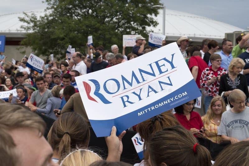 Mitt Romney Paul Ryan Political Rally stock image
