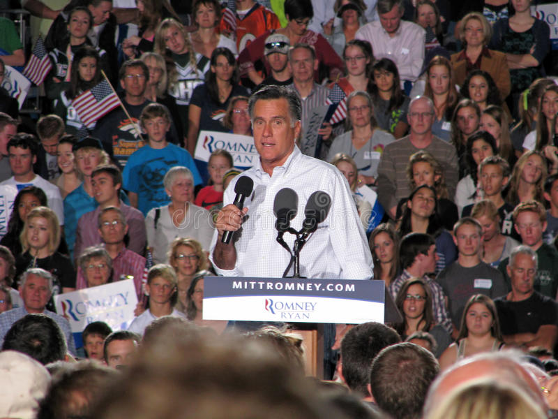 Mitt Romney Rally Editorial Stock Image