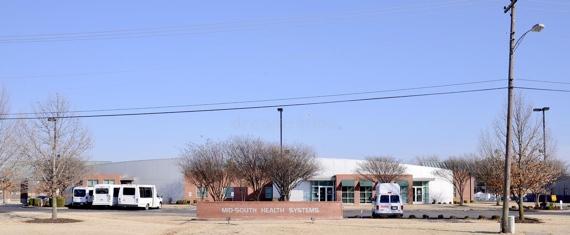 Mitt--söder vård- system, västra Memphis, Arkansas arkivfoto