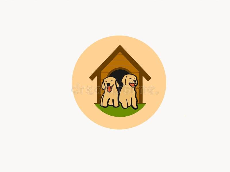 Mitt söta och älskvärda hundhus vektor illustrationer