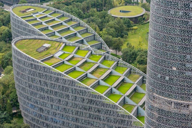 Mitt Tianfu för internationell finans i Chengdu - Kina arkivbilder