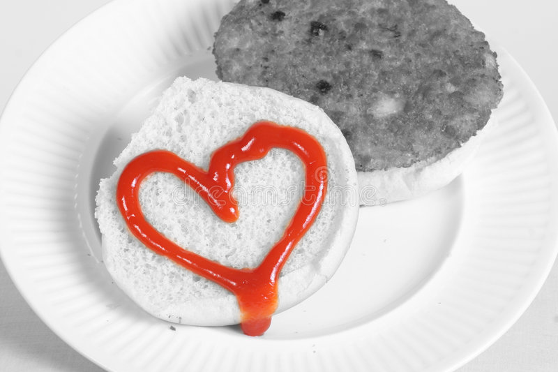 Mittagessen des Valentinsgrußes stockbild