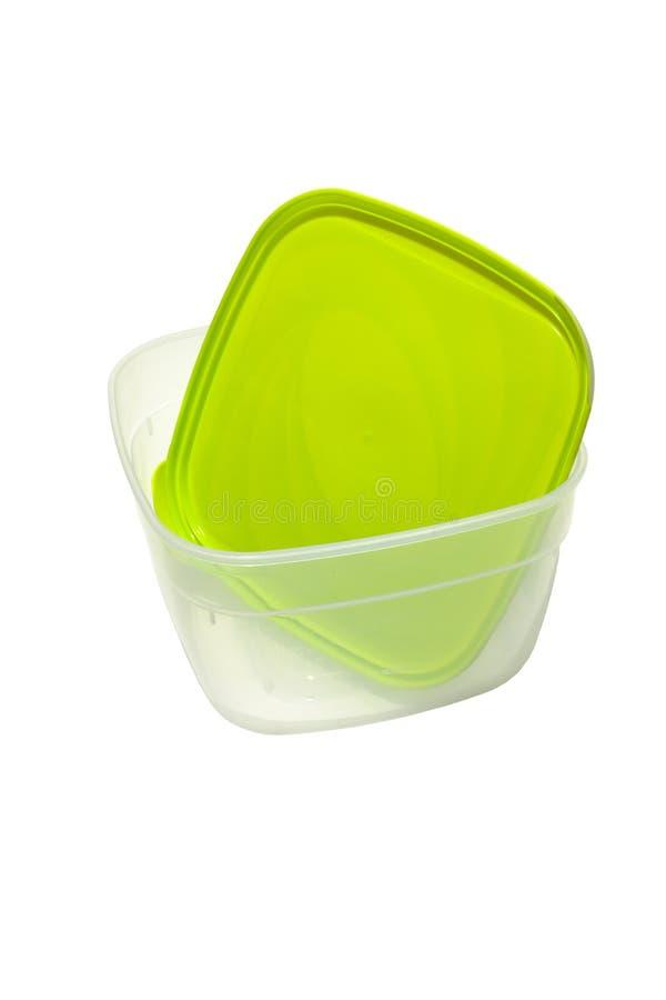 Mittagessenbehälter, gut für die Mikrowellenerwärmung Lokalisiert auf Weiß stockbilder