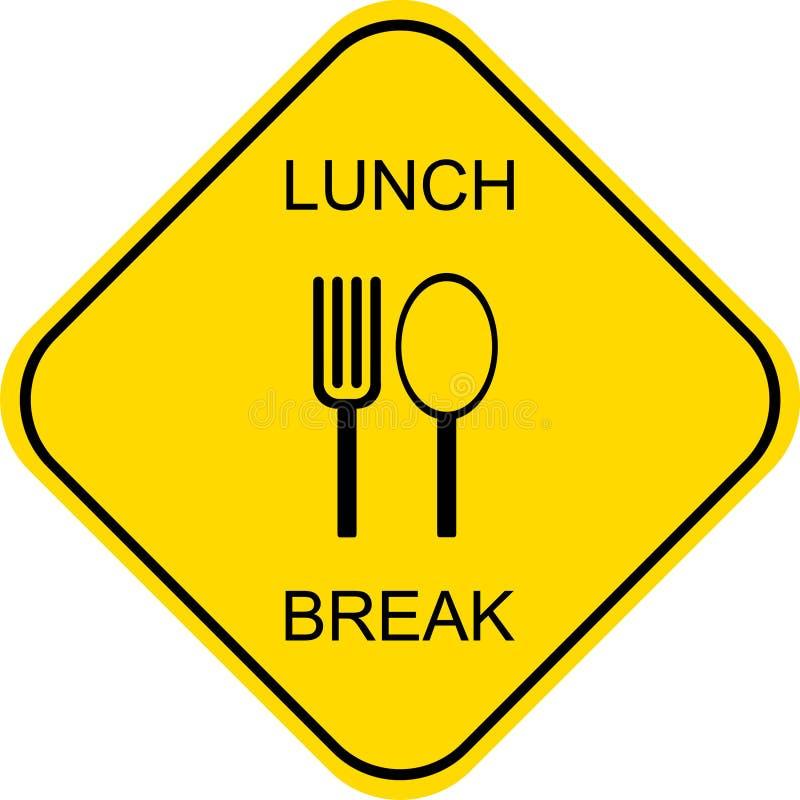 Mittagspause - Vektorzeichen stock abbildung