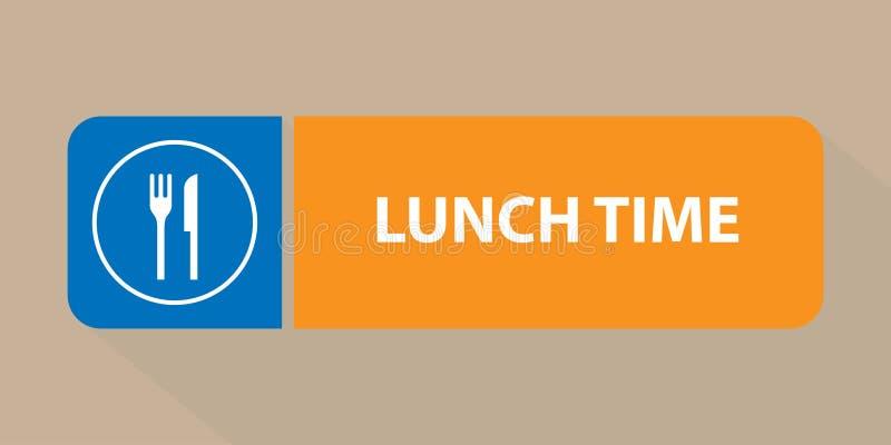 Mittagspausezeichen lizenzfreie abbildung