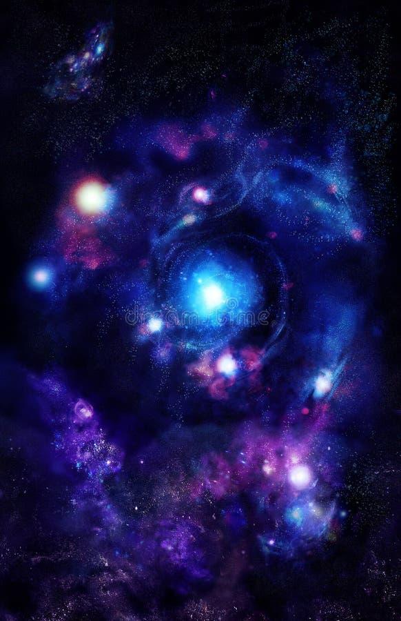 Mitte der Galaxie stockfoto