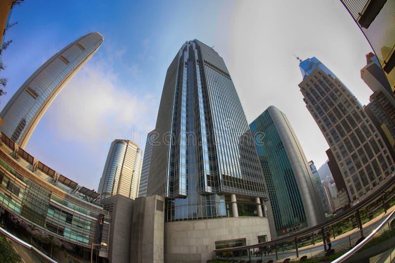 Mitte des internationalen Finanzwesens in Hong Kong lizenzfreies stockbild