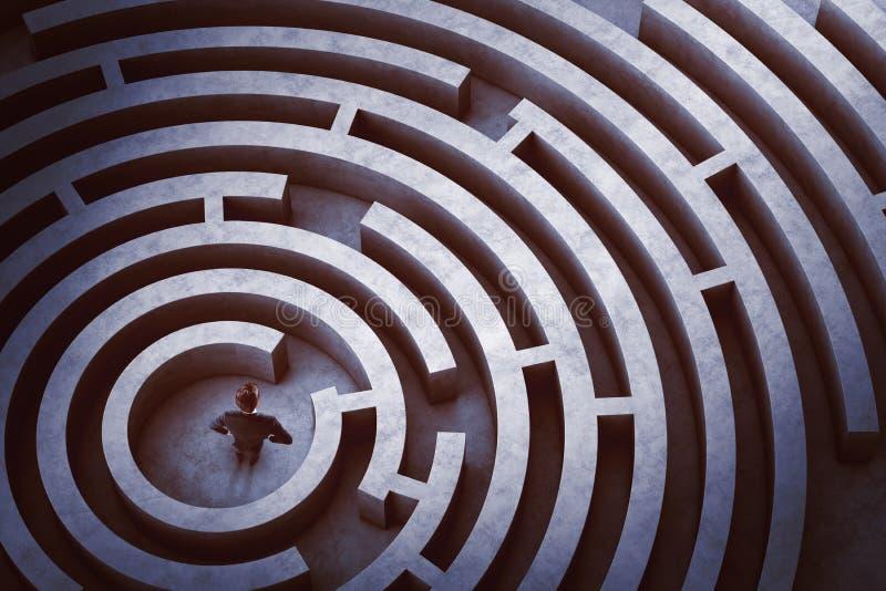 Mitte eines Labyrinths stockfotografie