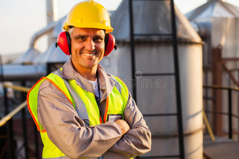 Mitte gealterte Arbeitskraft lizenzfreies stockbild