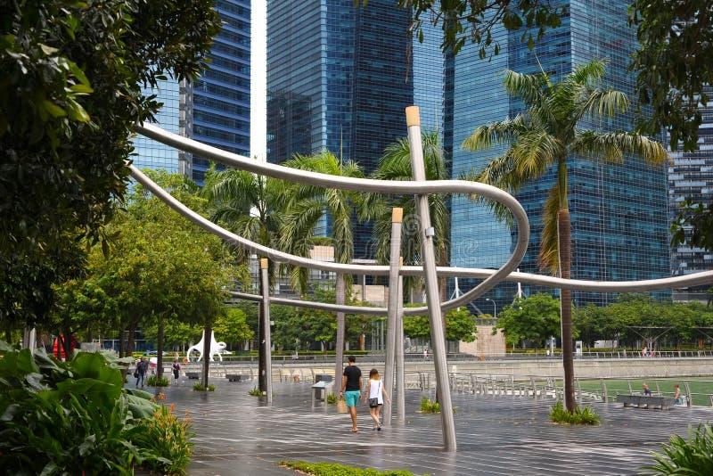 Mitte in Singapur lizenzfreie stockbilder