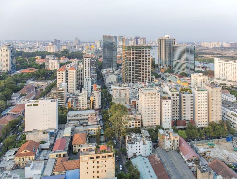 Mitte von Ho Chi Minh-Stadt lizenzfreie stockfotografie