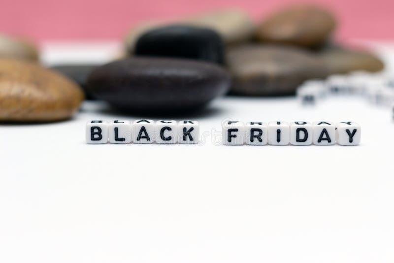 Mitteilung BLACK FRIDAY stockbild