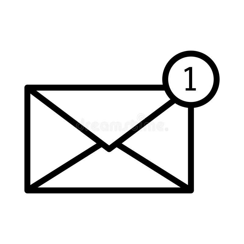 Mitteilung dünne linet Vektorikone vektor abbildung